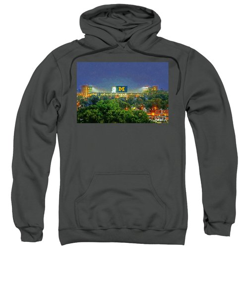 Stadium At Night Sweatshirt by John Farr