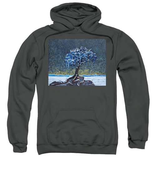 Standing Alone In The Snow Sweatshirt