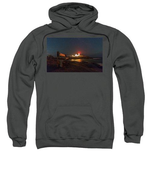 Starry Skies Over Nubble Lighthouse  Sweatshirt