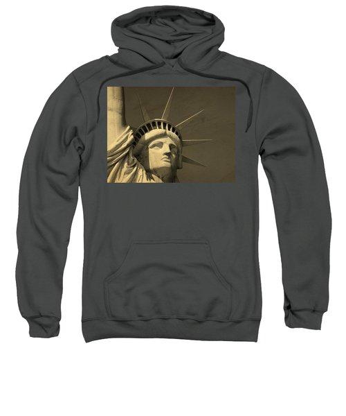 Statue Of Liberty Closeup  Sweatshirt