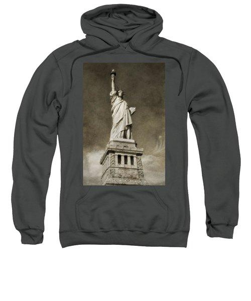Statue Of Liberty Sepia Sweatshirt