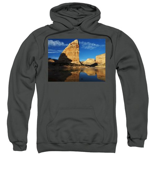 Steamboat Rock In Dinosaur National Monument Sweatshirt