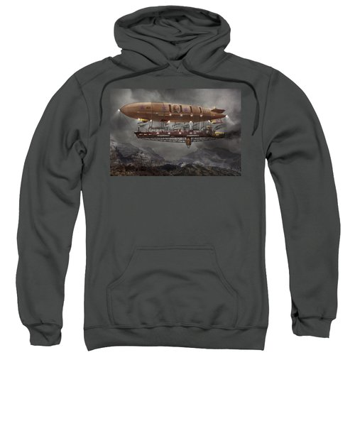 Steampunk - Blimp - Airship Maximus  Sweatshirt
