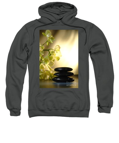 Stone Cairn And Orchids Sweatshirt
