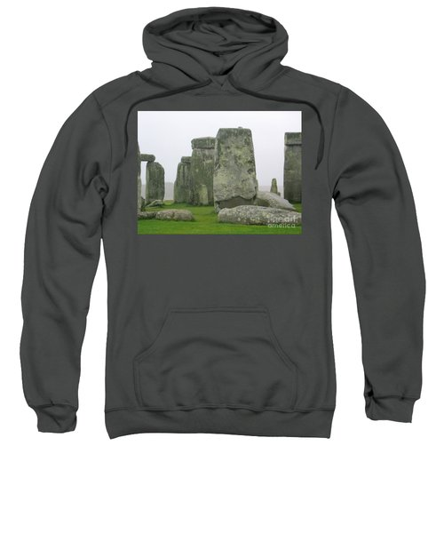 Sweatshirt featuring the photograph Stonehenge Detail by Denise Railey