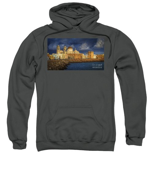 Stormy Skies Over The Cathedral Cadiz Spain Sweatshirt