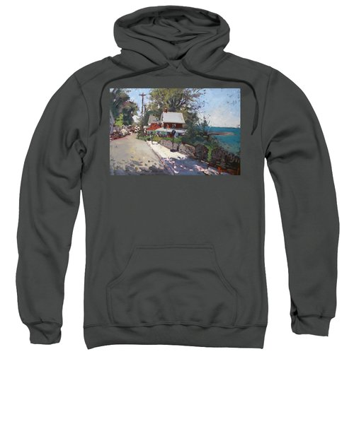 Street In Olcott Beach  Sweatshirt