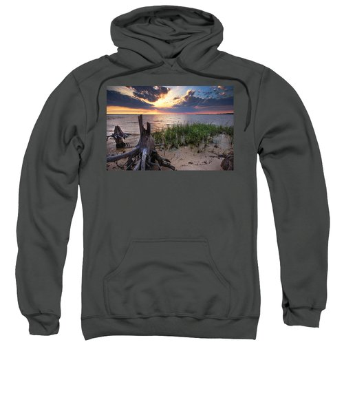 Stumps And Sunset On Oyster Bay Sweatshirt