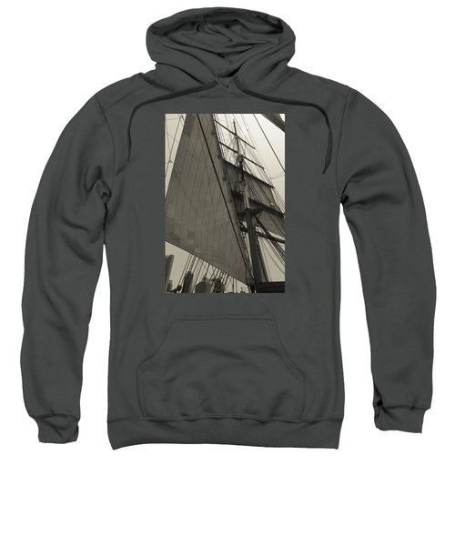 Suare And Triangle Black And White Sepia Sweatshirt
