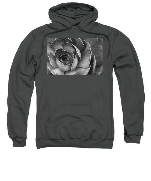 Succulent In Black And White Sweatshirt