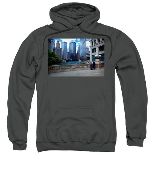 Summer Breeze On The Chicago River - Color Sweatshirt