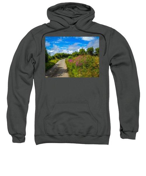 Summer Flowers On Irish Country Road Sweatshirt