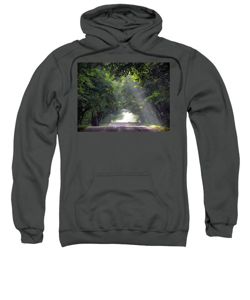 Sun Rays On Waters End Road Sweatshirt