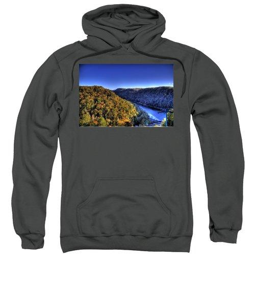 Sun Setting On Fall Hills Sweatshirt by Jonny D