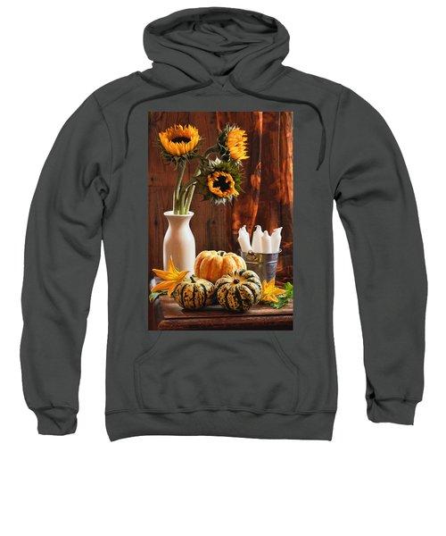 Sunflower And Gourds Still Life Sweatshirt