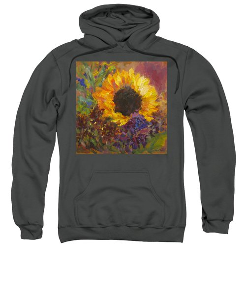 Sunflower Dance Original Painting Impressionist Sweatshirt