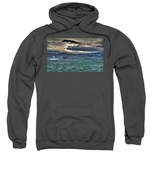 Sunrise At A Small Pond In Yellowstone Sweatshirt