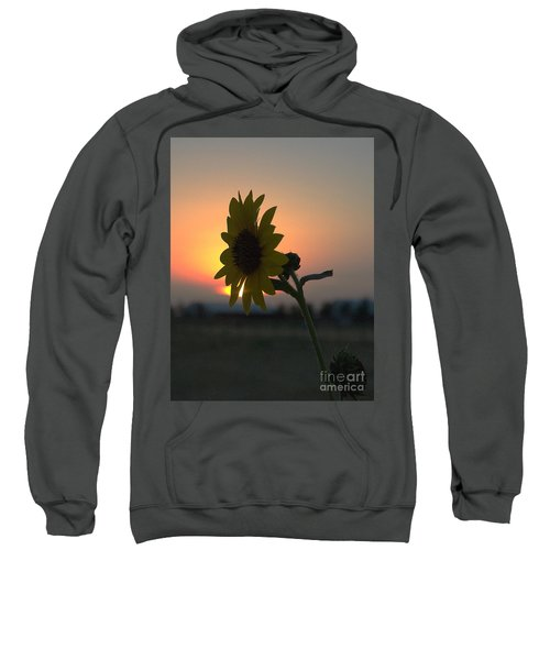 Sweatshirt featuring the photograph Sunset And Sunflower by Mae Wertz