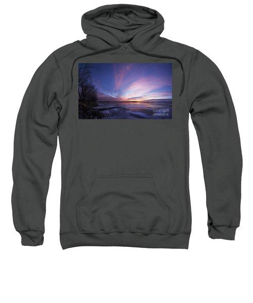 Sunset At Lovewell Lake Kansas Sweatshirt