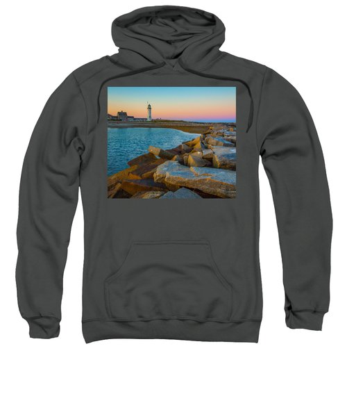 Sunset At Old Scituate Lighthouse Sweatshirt