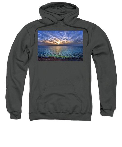 Sunset At The Cliff Beach Sweatshirt