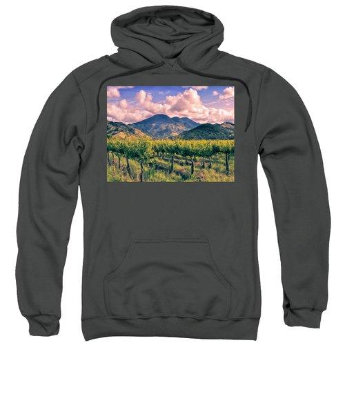Sunset In Napa Valley Sweatshirt
