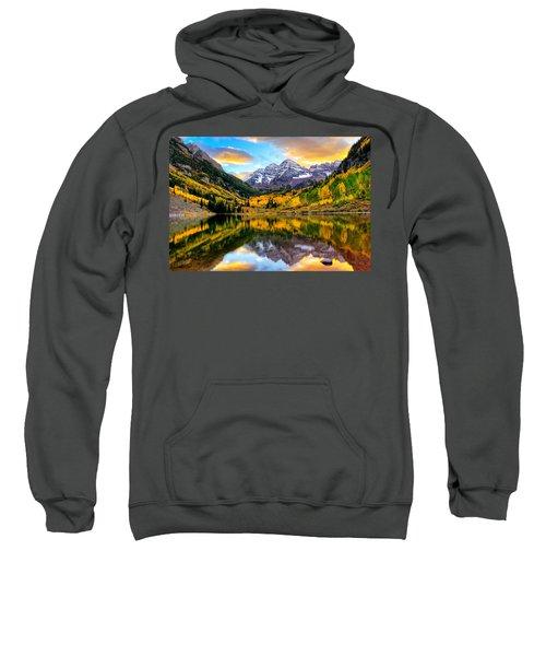Sunset On Maroon Bells Sweatshirt