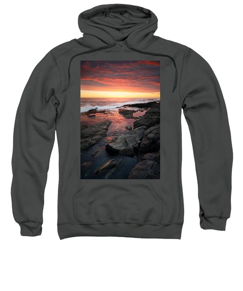 Sunset Over Rocky Coastline Sweatshirt