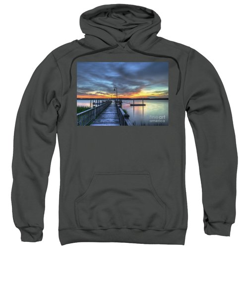 Sunset Over The River Sweatshirt