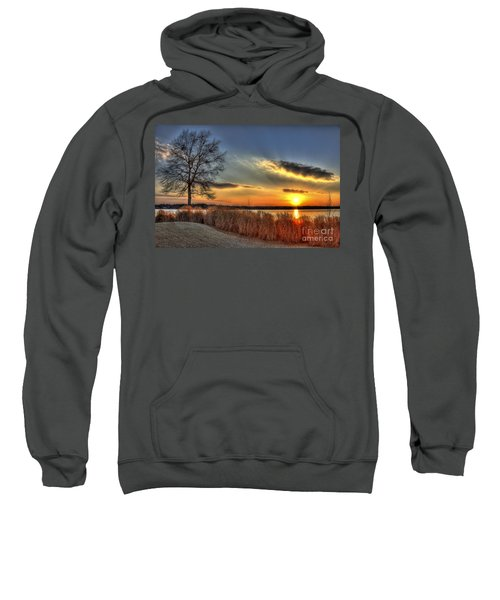 Sunset Sawgrass On Lake Oconee Sweatshirt by Reid Callaway