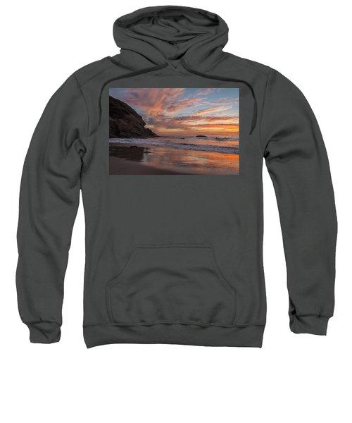 Surfers And Sunset At Strands Beach Dana Point Sweatshirt
