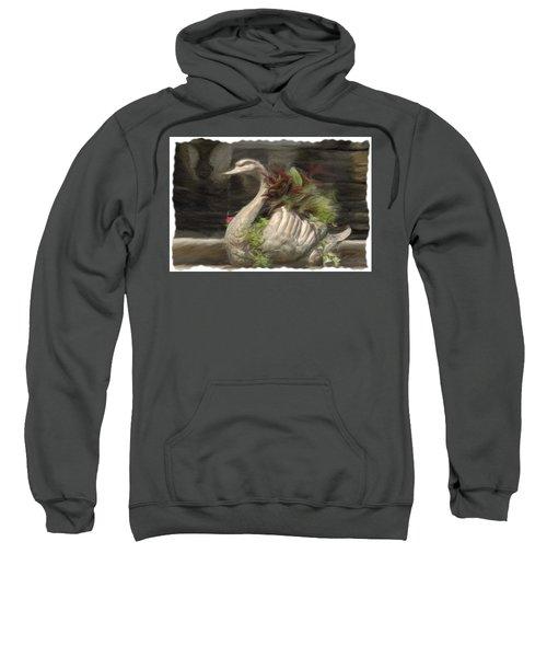 Swan With Beautiful Flowers Sweatshirt