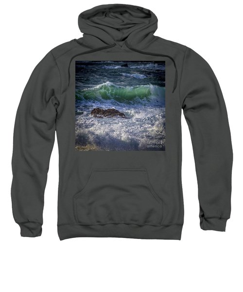 Swells In Doninos Beach Galicia Spain Sweatshirt