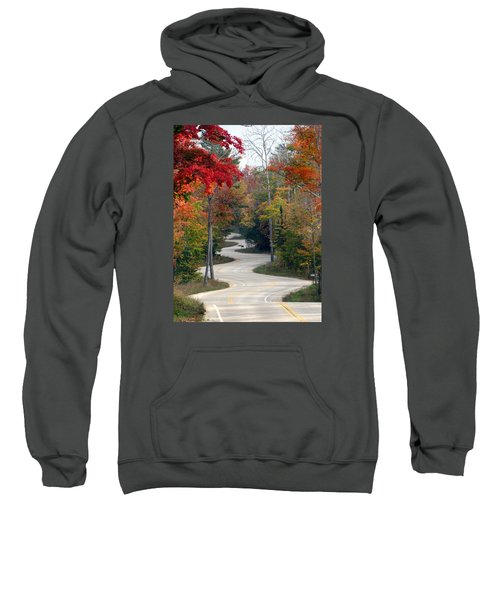 Swervy Road At North Port Sweatshirt