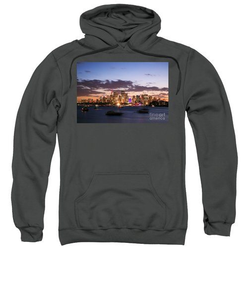 Sydney Skyline At Dusk Australia Sweatshirt