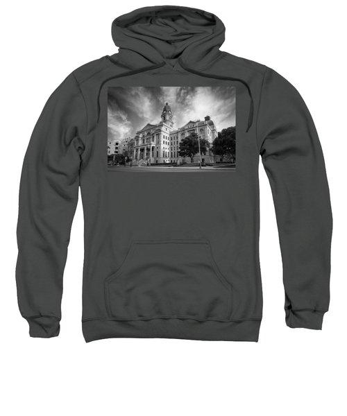 Tarrant County Courthouse Bw Sweatshirt