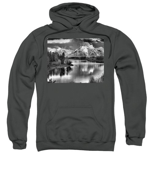 Tetons In Black And White Sweatshirt