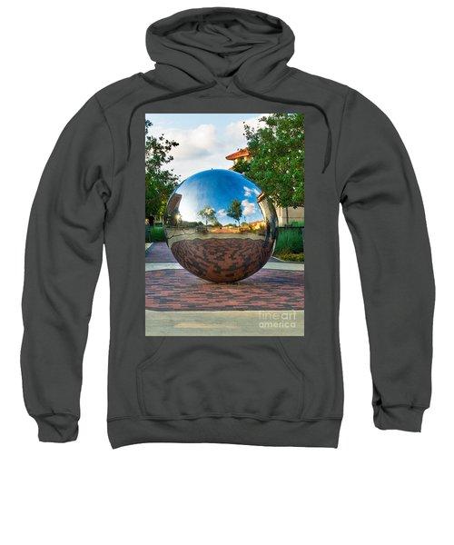 Sweatshirt featuring the photograph Tech World by Mae Wertz