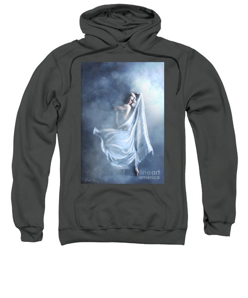 Sweatshirt featuring the digital art That Single Fleeting Moment When You Feel Alive by Linda Lees