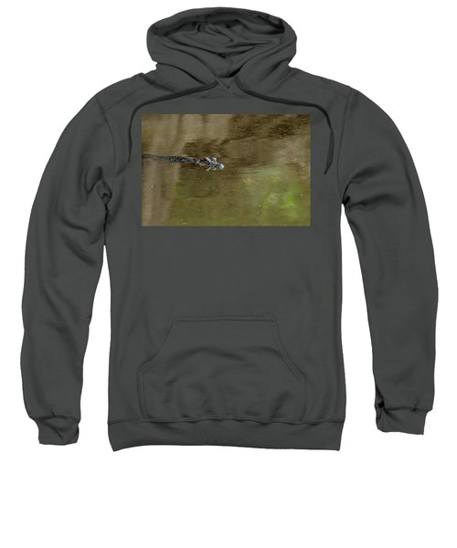 Sweatshirt featuring the photograph The American Alligator In The Flint River by Kim Pate