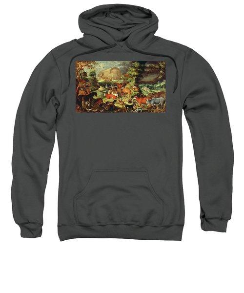 The Animals Entering The Ark Sweatshirt by Jacob II Savery