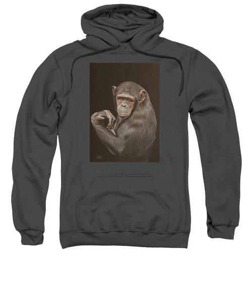 The Arm Wrestler - Chimpanzee Sweatshirt
