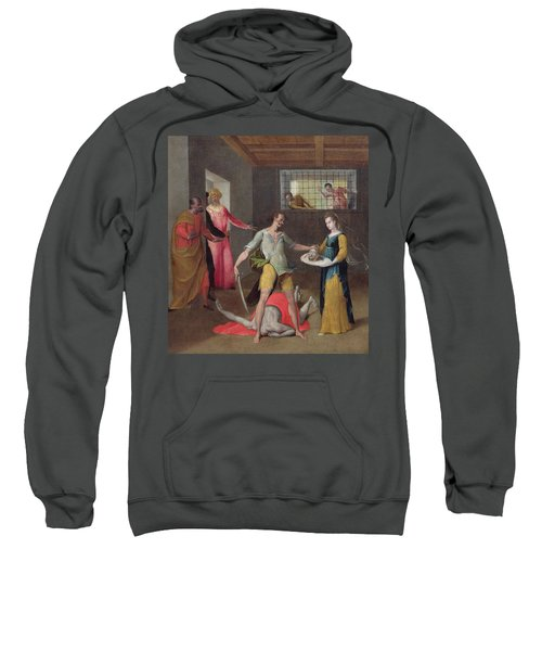 The Beheading Of St. John The Baptist Oil On Canvas Sweatshirt