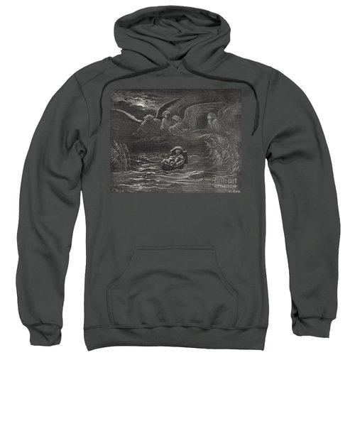 The Child Moses On The Nile Sweatshirt