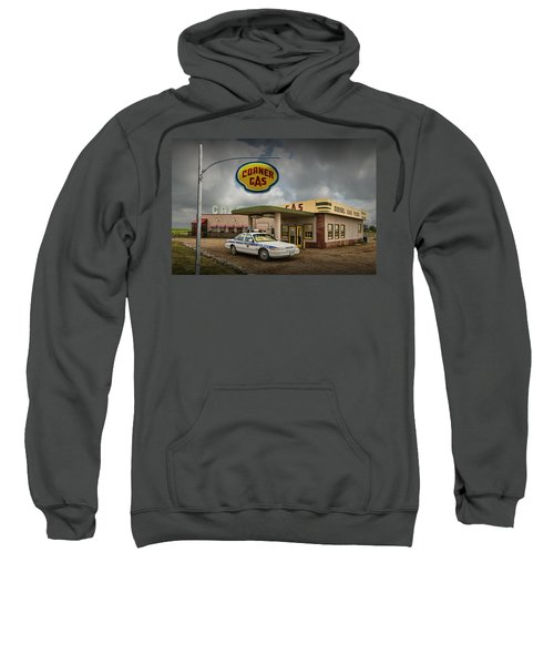 The Corner Gas Station From The Canadian Tv Sitcom Sweatshirt