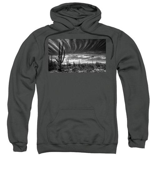 The Desert In Black And White Sweatshirt