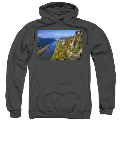 The Elbe Sandstone Mountains Along The Elbe River Sweatshirt