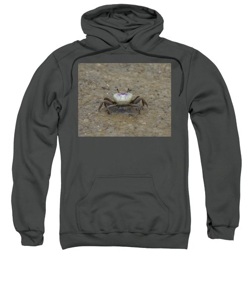 Sweatshirt featuring the photograph The Fiddler Crab On Hilton Head Island by Kim Pate
