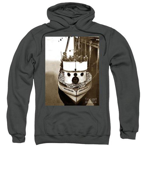 The Happy Crew Of The Fishing Boat  Geraldine- Ann Monterey California 1939 Sweatshirt