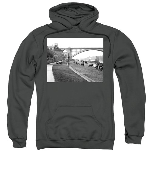 The Harlem River Speedway Sweatshirt by Detroit Publishing Company